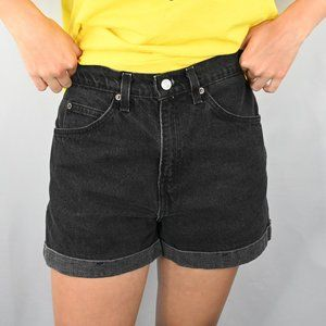 Levi's Shorts - Levis Black High Rise 954 Denim Shorts SZ:7